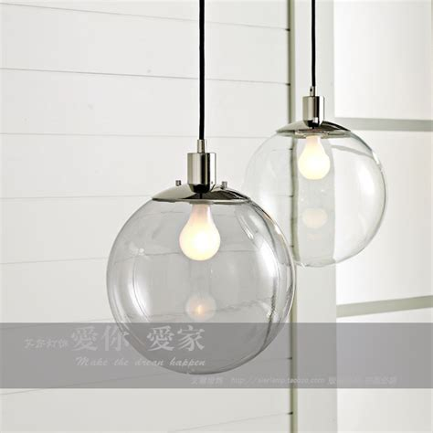 iron sphere light fixture modern brief fashion glass ball pendant l personalized