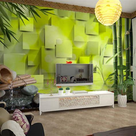 kustom foto wallpaper living room bedroom latar belakang wall decor kustom wallpaper bambu 3d ruang tamu sofa tidur latar