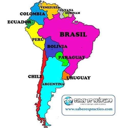 imagenes de mapa sudamerica pa 237 ses de am 233 rica del sur limite con brasil pinterest
