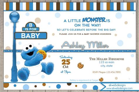 Cookie Baby Shower Invitations by Cookie Baby Shower Invitation A