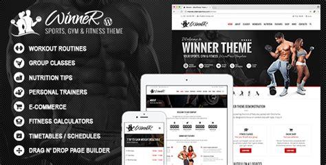 wordpress themes mailing list winner sports gym fitness wordpress theme by