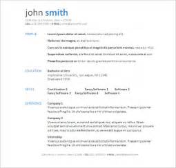 Resume Template Free Microsoft Word by Free Resume Templates Word Cyberuse