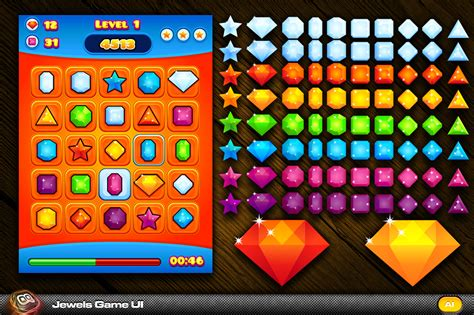design game puzzles game ui free gem google search ui object gems