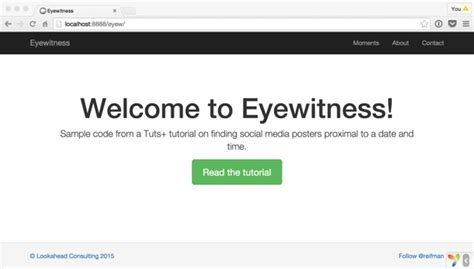 yii2 events tutorial using social media to locate eyewitnesses to important events