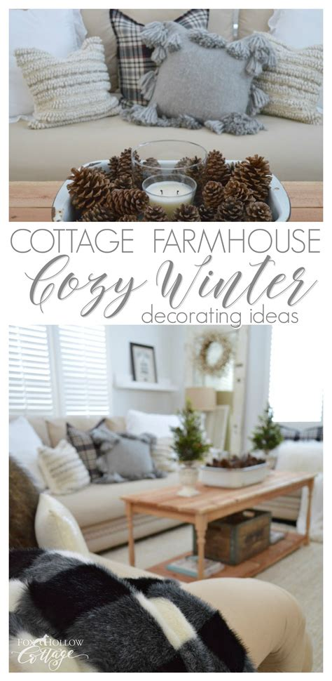 decorating ideas for after christmas cozy cottage farmhouse winter decorating ideas fox hollow cottage
