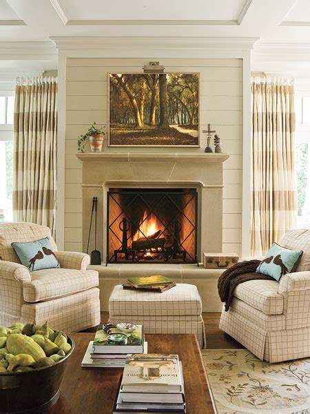 Neutral Living Room With Fireplace New Home Interior Design Household Basic Gallery 10