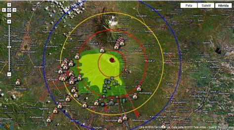 Spinner Lingkaran Besi warung informasi gambar gunung merapi radius 20 km