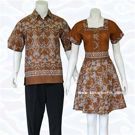 Dress Batik Coklat Motif dress batik sarimbit tenun coklat 71 dress batik