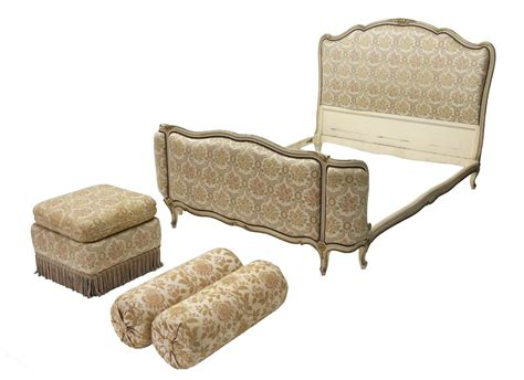 Ottoman Style Bed 4 Louis Xv Style Bed Ottoman Pillows June Estates Auction Day Two Auction Gallery
