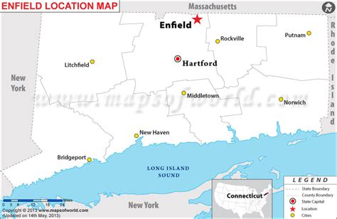 usa connecticut map where is enfield located in connecticut usa