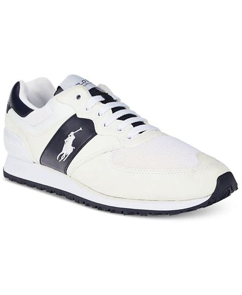 polo ralph mens sneakers polo ralph s slaton pony sneakers in white for