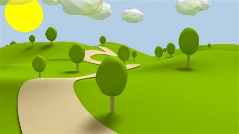 wallpaper cartoon tree cartoon 2d backgrounds park 2560x1440 green garden