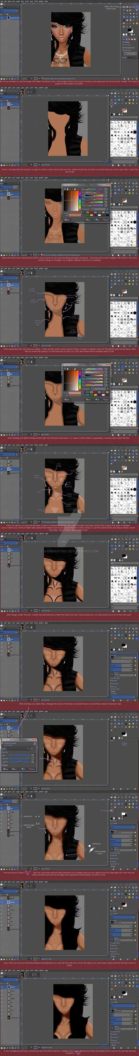 Tutorial Gimp Imvu | imvu skin tutorial gimp by gamematrix on deviantart