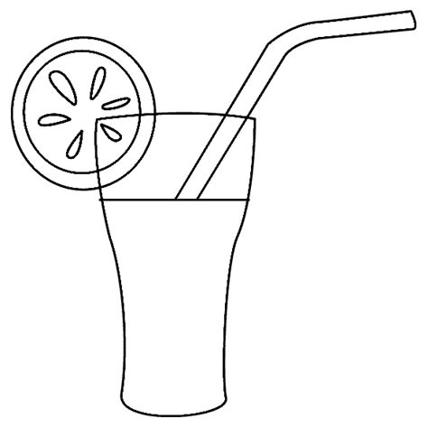 coloring pages of juice drinks