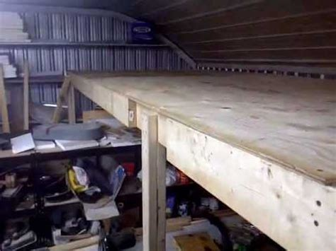 how to build a shop overhead storage loft in the shop youtube