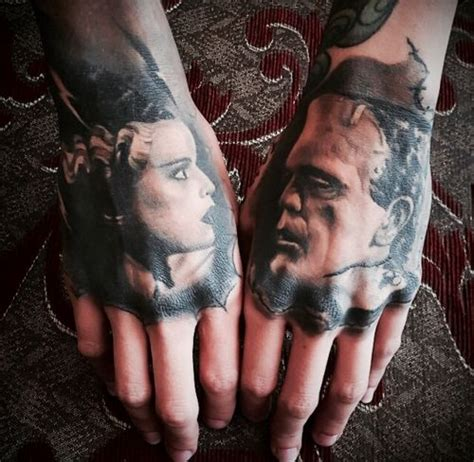 tattoo fixers halloween frankenstein frankenstein and his bride tattoos halloween or gothic