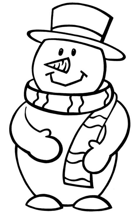 simple snowman coloring page simple snowman christmas coloring book coloring pages