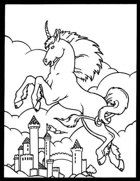 Unicorn Castle Coloring Page | unicorn and castle coloring page welcome to dover