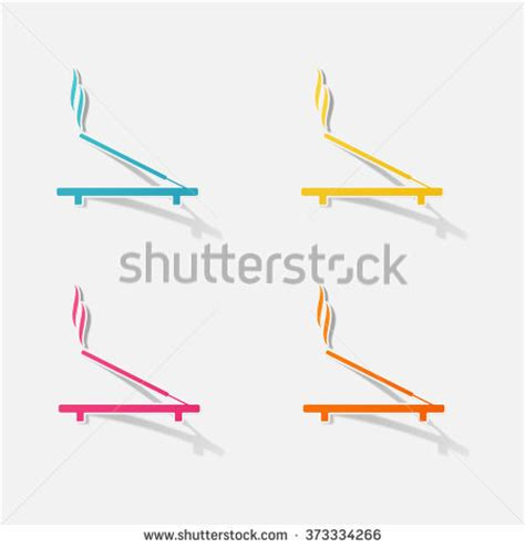 Simple Pattern Stick Label Post Its Memo Tempel Kecil sticker paper products realistic element design stock vector 363792941