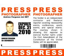 Press Pass Template sle press passes el vaquero graphics team