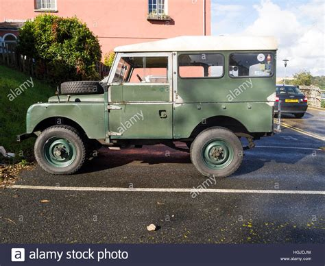 vintage land rover stock photo royalty free image
