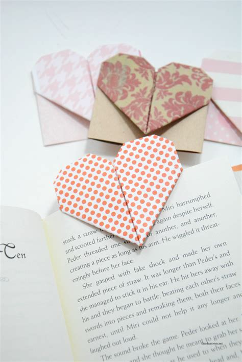 How To Make A Bookmark Out Of Paper - origami bookmarks the idea room