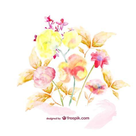 watercolor templates watercolor floral bouquet template vector free