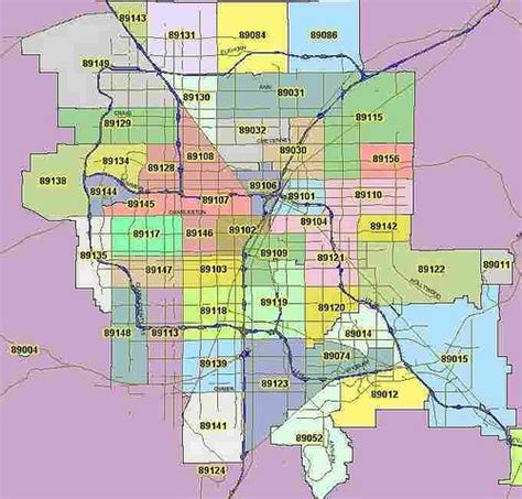 zip code map for las vegas las vegas zip code map las vegas nevada pinterest