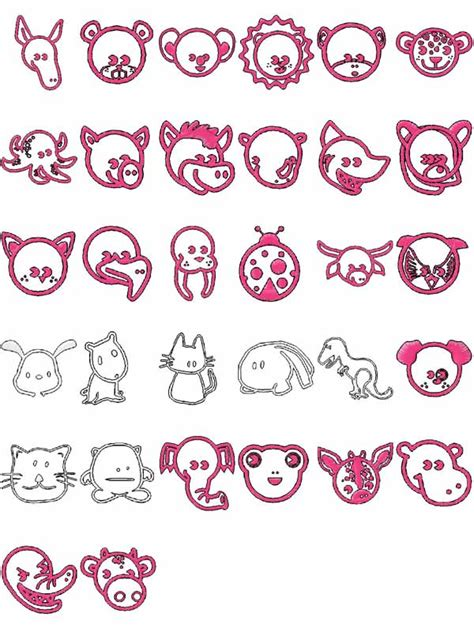 cute embroidery pattern machine embroidery designs cute animals set