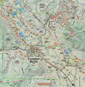 crested butte park trails recreation topo map