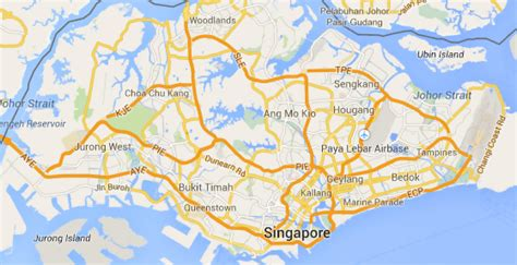singapore on a map maps of singapore detailed map of singapore in