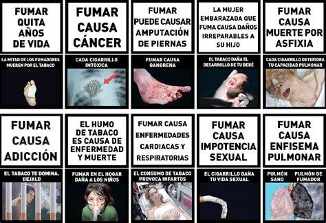 imagenes impactantes sobre adicciones los atados de cigarrillos tendr 225 n fuertes im 225 genes de