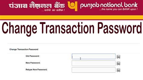 Online Reset Pnb Transaction Password | pnb net banking change transaction password punjab