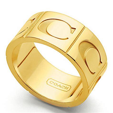 coach f96071 signature c band ring gold gold coach