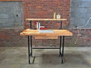 wood pallet and metal pipe desk pallet furniture diy