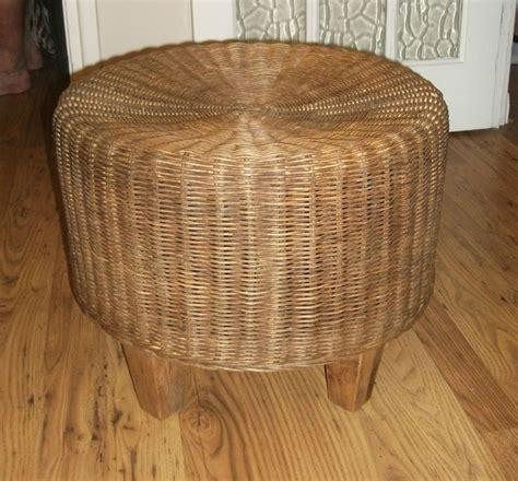 retro wicker footstool wicker wicker furniture retro vintage