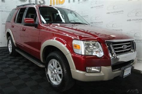 4 cylinder suv with 3rd row seating 2010 ford explorer eddie bauer 4x4 suv clean carfax 3rd