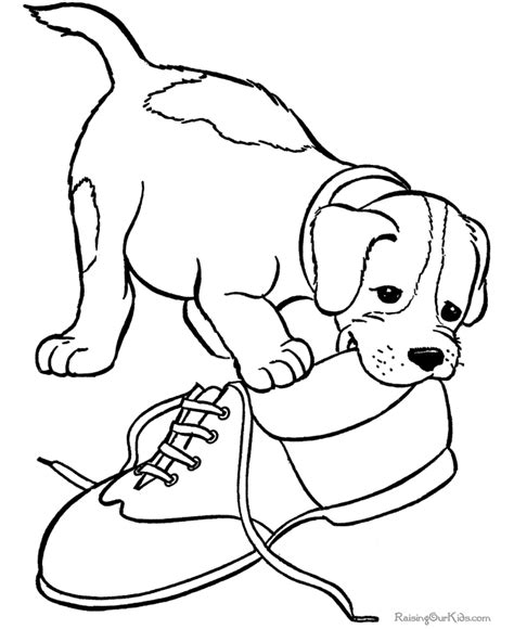 coloring pages of pets to print pet puppy dog coloring pictures 068