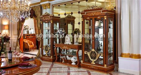 luxurious wooden carving showcase cabinet using clear 0038 living room luxury classic wooden tv cabinet with