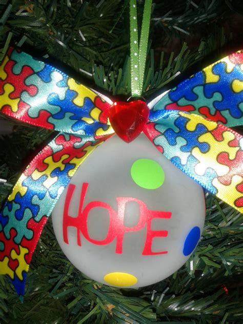 free shipping autism awareness ornament