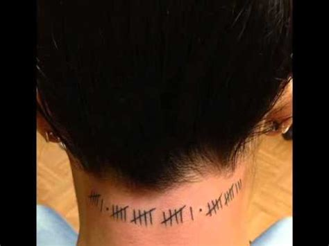 aj lee tattoo neck 6 16 2013 wwe tally marks youtube