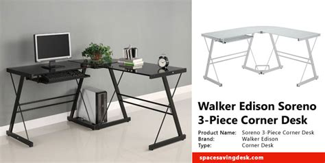 walker edison corner computer desk walker edison 3 piece desk desk design ideas