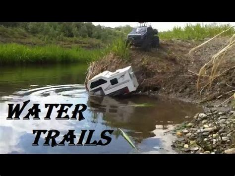toy boat over waterfall rc cwr water trails an rc truck montage youtube