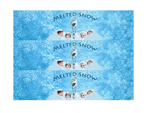 frozen printable melted snow 10 best images of frozen free printable label templates