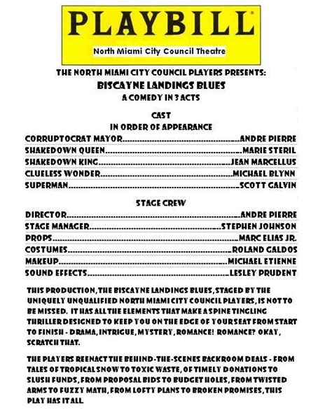 Playbill Votersopinion Com Playbill Program