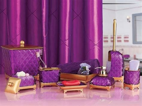 purple and gold bathroom gold and purple bathroom vanity accessories sets
