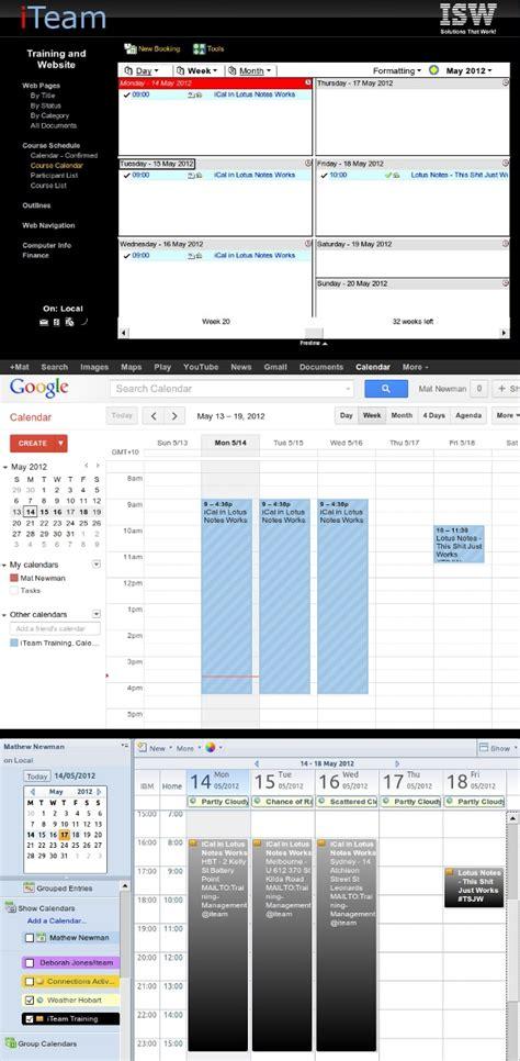 lotus notes calendar template sync calendar with lotus notes calendar template 2016