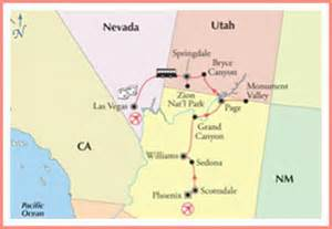 road map of arizona and california best summer road trips