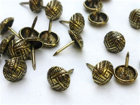 Decorative Nails by 100 X Decorative Upholstery Nails Studs Tacks Brass