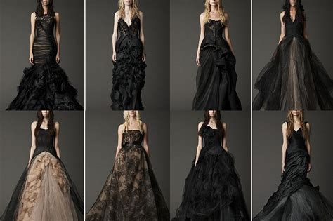 Black Wedding Dresses by The Space Of Wedding And Complicated Black Wedding Gowns
